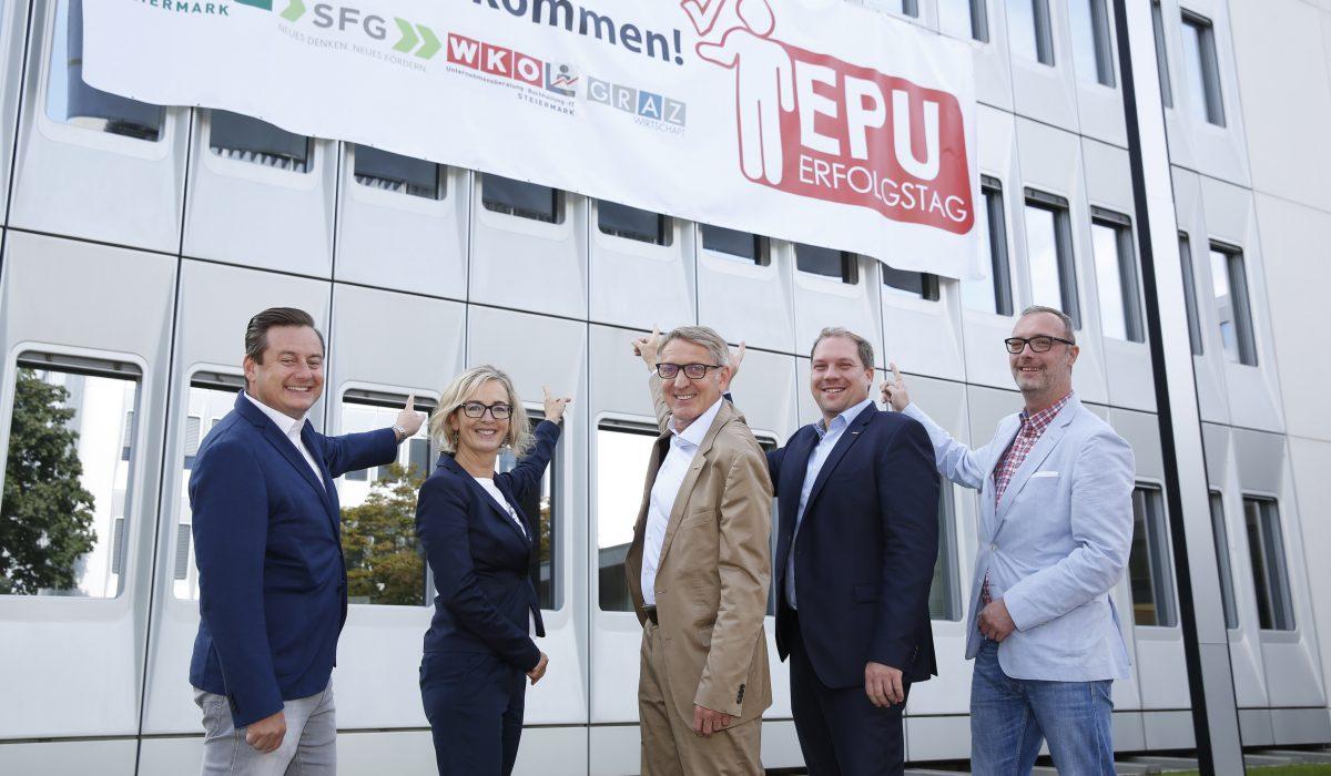 Sujetbild EPU-Tag mit Vertretern des Wirtschaftsbundes und der WKO Steiermark