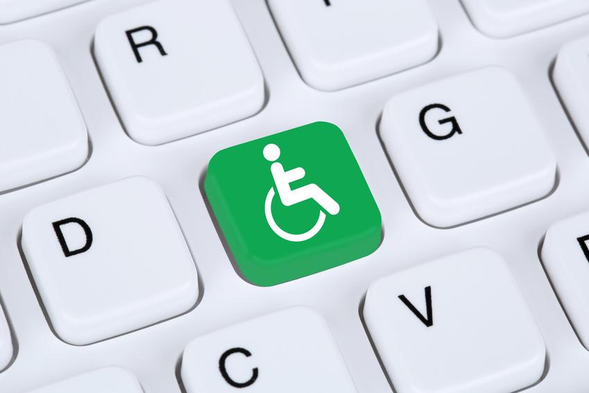 Barrierefreies Internet Webdesign Web auf Computer Tastatur