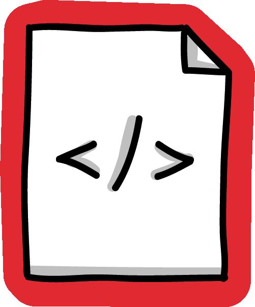 Zeichnung eines Textblatts mit