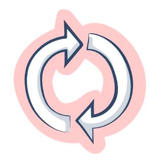 Zeichnung eines Kreislaufsymbols